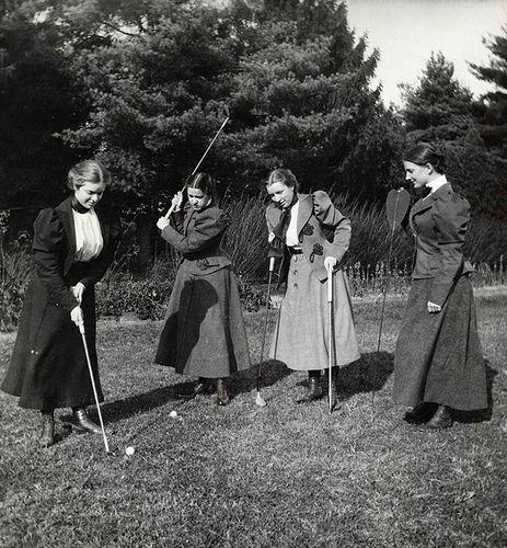 1895  Playing Golf - Vassar