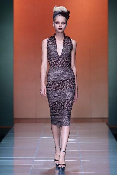 Bongiwe Walaza @ Mercedes Benz Fashion Week Africa 2013 - Day 3 / South Africa - FashionGHANA.com (100% African Fashion)