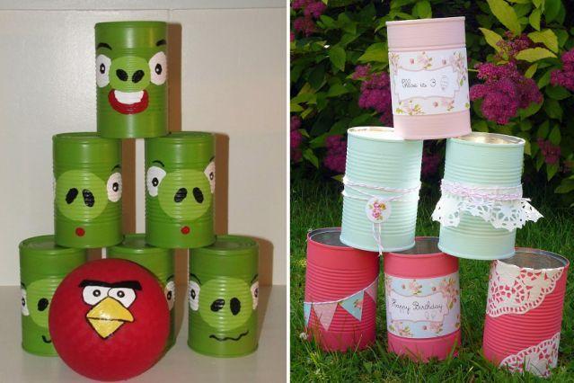 Bricolages avec des bo tes de conserve f tes et bricolage - Cuisiner avec des boites de conserves ...