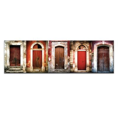 Artist Lane Doors of Italy - Le Porte Rosse by Joe Vittorio Framed Photographic Print on Wrapped Canvas