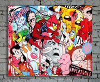 Arte astratta colorato pop art sfondo pittura murale pittura a olio casa immagine astratta contemporanea di illustrazioni