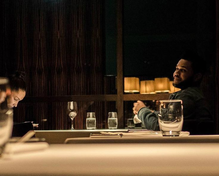 """Bella Hadid and Abel Tesfaye at a restaurant in Tokyo """