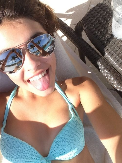 at the pool party.-madison