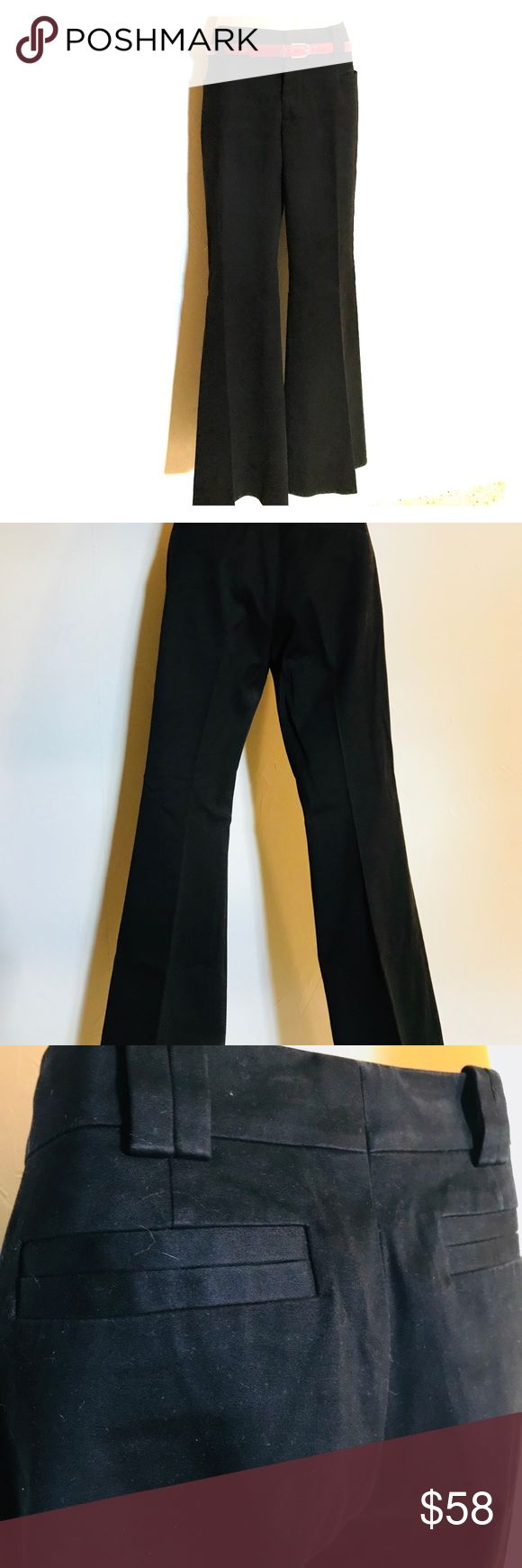 """Gucci Dress Pants. EUC Black Gucci Dress Pants. Wool blend. Flare ankle. Square pockets. Italian size 42, US 6 conversion. 15 1/2"""" across waist. 8 1/2"""" front rise. 9 1/2"""" across thigh. 11 1/2"""" across ankle opening. 39 1/2"""" length. 31"""" inseam. Reposhing these fantastic Pants after a photo shoot. They are in very good condition. No stains or wear at hem.  Shown with vintage Dior belt and cache sweater. Gucci Pants"""