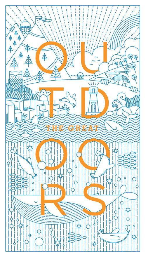 The Great Outdoors on Behance