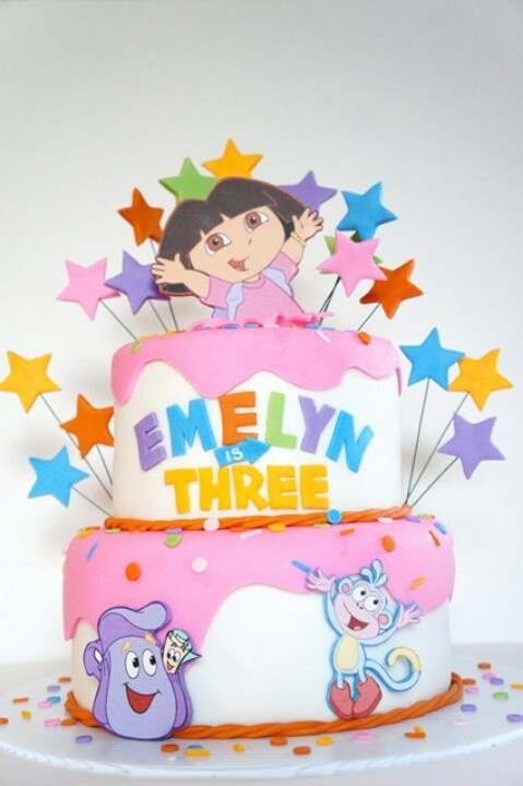 58 best Dora the Explorer Cakes images on Pinterest Dora cake