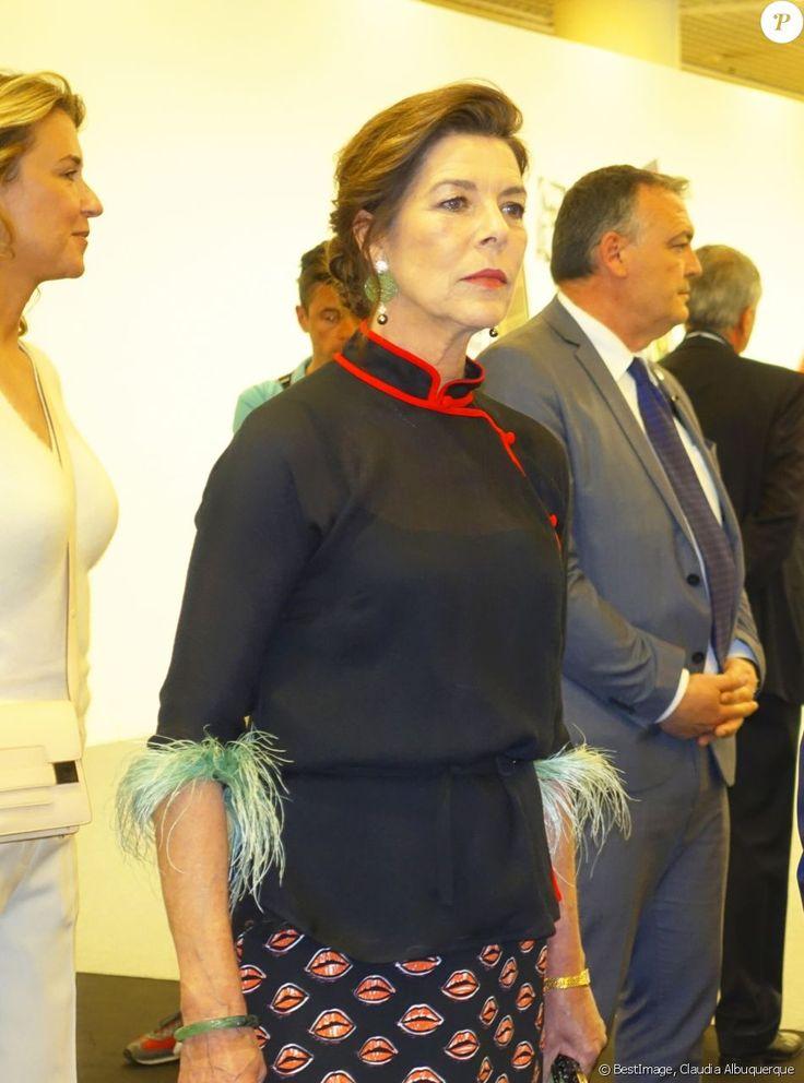 Caroline de Hanovre : Très chic au côté du prince Albert pour artmonte-carlo