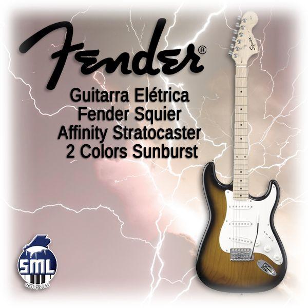 Guitarras elétricas Fender, encontra no Salão Musical de Lisboa. Venha experimentar!  http://www.salaomusical.com/gb/electric-guitars/1103-fender-electric-guitar-squier-affinity-stratocaster-2-colors-sunburst.html