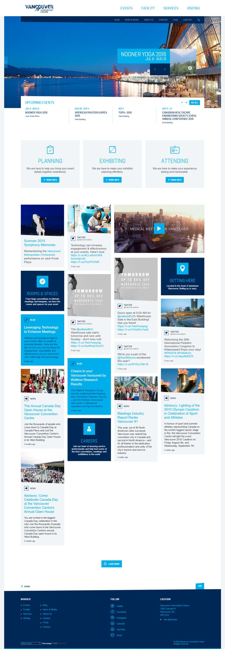 Vancouver Convention Centre website inspiration