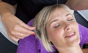 Groupon - One or Three Eyebrow Threading Sessions or One Full Face Threading at…
