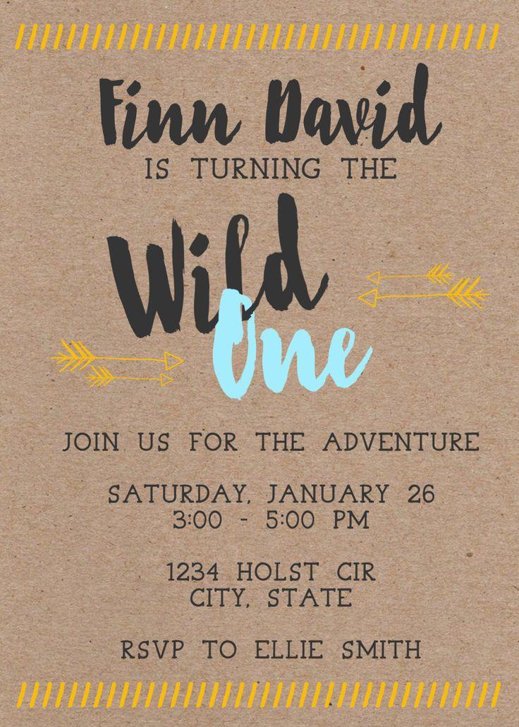 Wild One First Birthday Invitation by MaeberrysNest