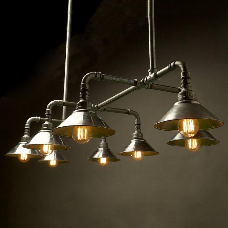Gal-Dining-table-Plumbing-pipe-light                                                                                                                                                                                 More