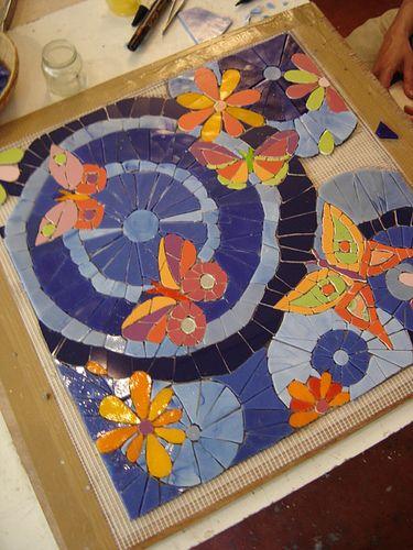 Butterflies           #mosaic #art #animals