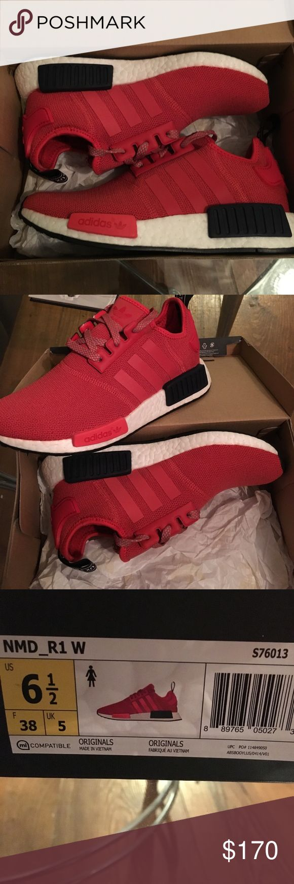 Adidas NMD women's size 6.5 Originals, brand new in the box. Women's size 6.5. Red with white and navy Adidas Shoes Sneakers