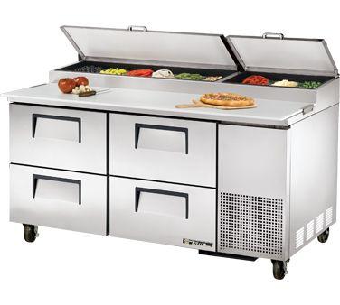 true pizza prep refrigerator 20 6 pizza prep 20 6 33 41 f pan rail s s. Black Bedroom Furniture Sets. Home Design Ideas