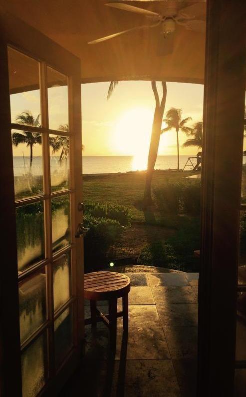 Sunrise from guest room at Old Bahama Bay, Grand Bahama Island
