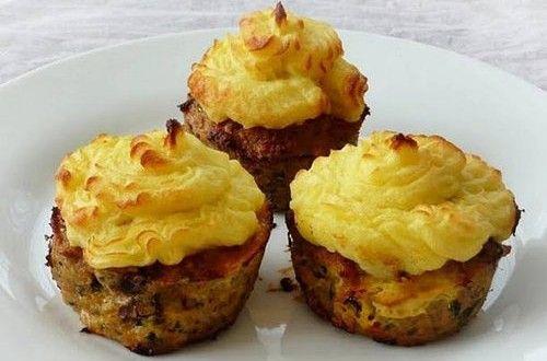 Fasírt muffin krumplipürével | Receptkirály.hu