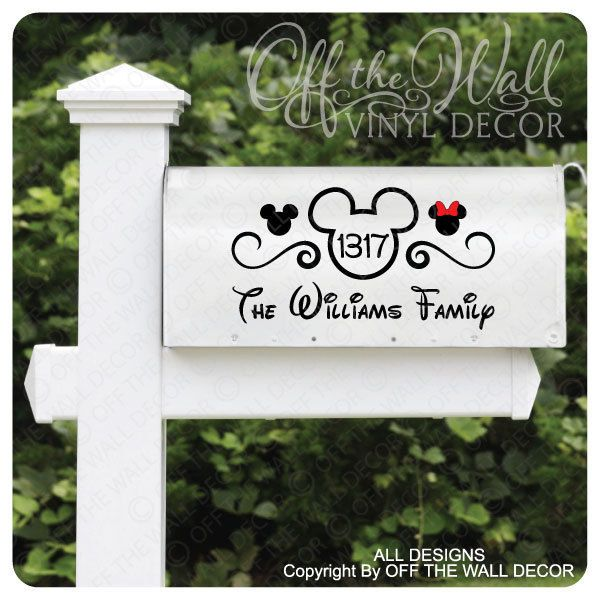 "Disney ""Mickey Mouse"" Vinyl Mailbox Lettering Decoration Decal Sticker 