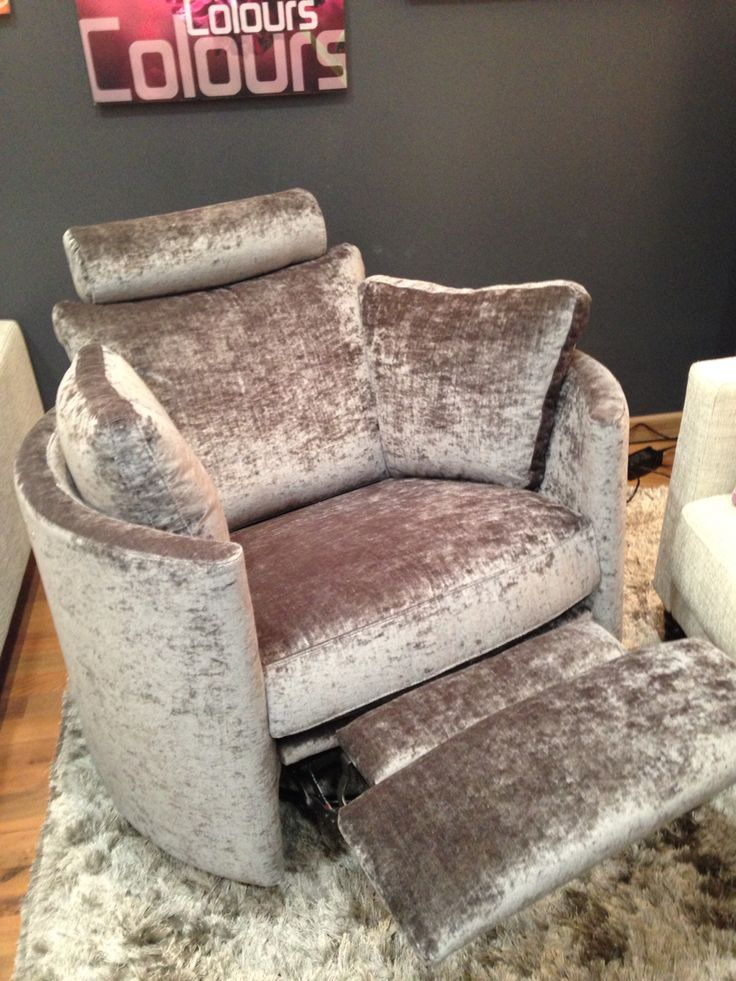 Electric, swivel, rocking, recliner chair.  This is in Modena crushed velvet.