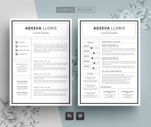 41 best 2 Page Resume Template images on Pinterest Resume cv, Cv - can a resume be 2 pages