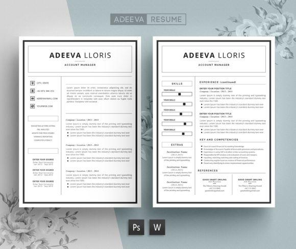 Simple Resume Template Loris by AdeevaResume on @creativemarket