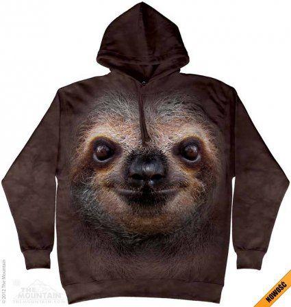 Sloth Face - Leniwiec - Bluza The Mountain - Bluza z leniwcem - www.veoveo.pl - bluzy z nadrukami