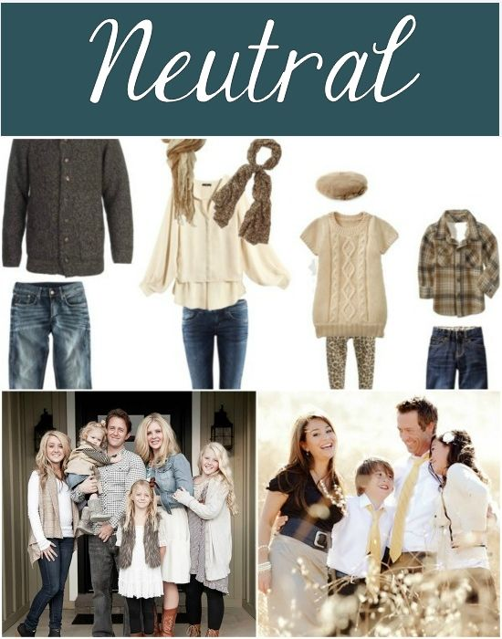 What to wear for fall family photos- neutral color palette