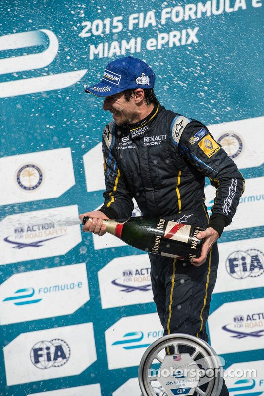 Race winner Nicolas Prost