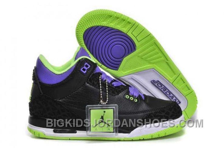 http://www.bigkidsjordanshoes.com/hot-nike-air-jordan-3-kids-2014-black-purple-green-shoes.html HOT NIKE AIR JORDAN 3 KIDS 2014 BLACK PURPLE GREEN SHOES Only $84.57 , Free Shipping!