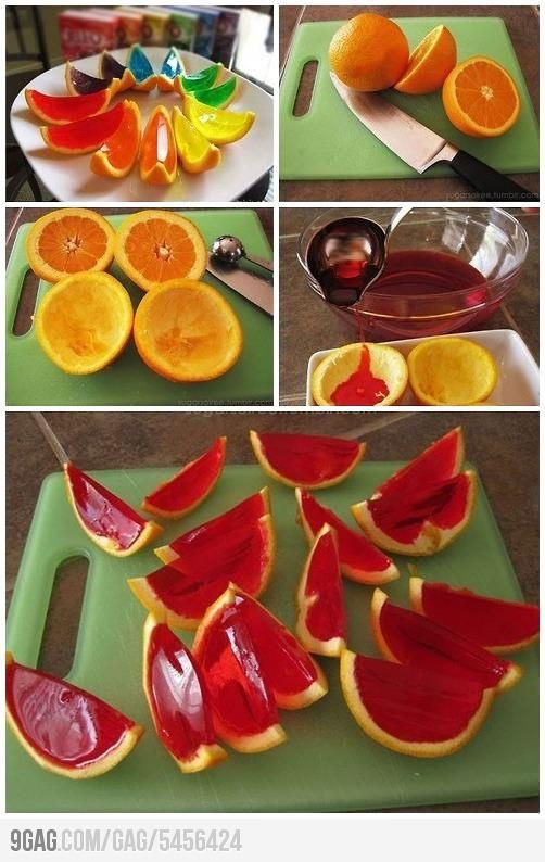 Great for a kids-party with regular jell-o. Awesome for a adult-party with jell-o-shots :-P Maybe use lemons instead, because they're smaller