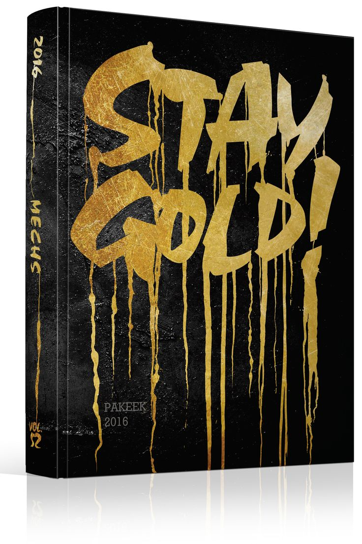"Yearbook Cover - Mattamuskeet Early College High School - ""Stay Gold"" Theme…"