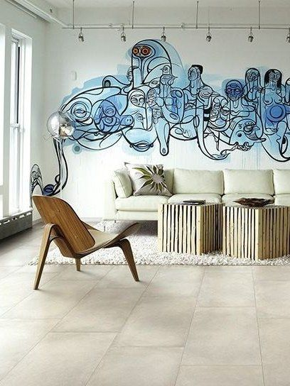 Porcelain stoneware wall/floor tiles with concrete effect CHROME by @Cerdomus Ceramiche Ceramiche  #interiors