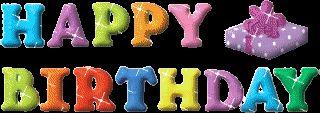 Happy Birthday Glitter Words | ... www.glitters123.com/birthday/colourful-words-happy-birthday-glitter