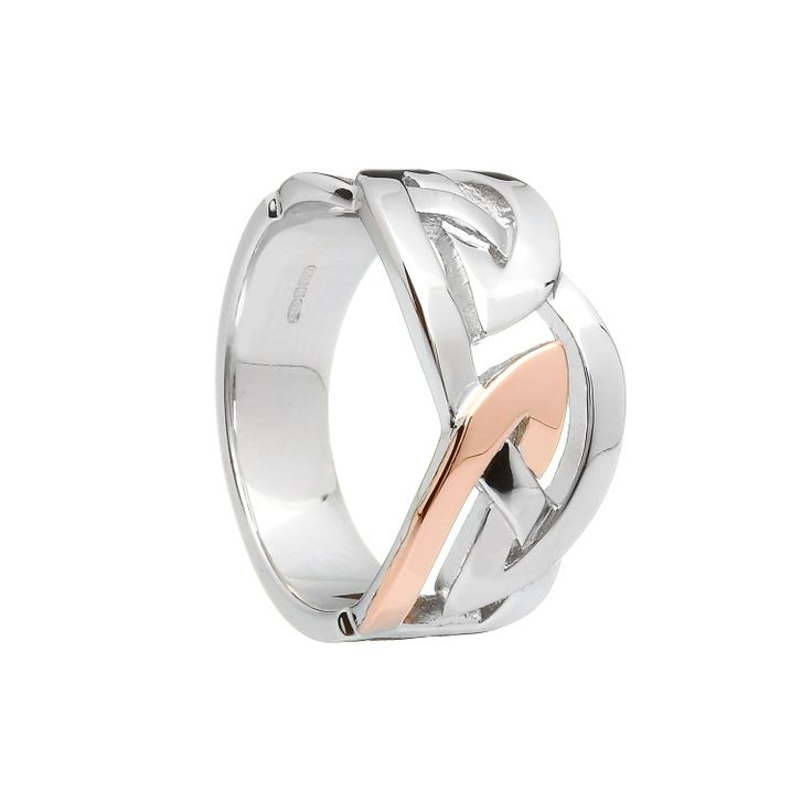 Men's Celtic Design Ring #houseoflor #irishjewelry #irishgold #ring #sterlingsilver #rosegold #celticjewelry #men