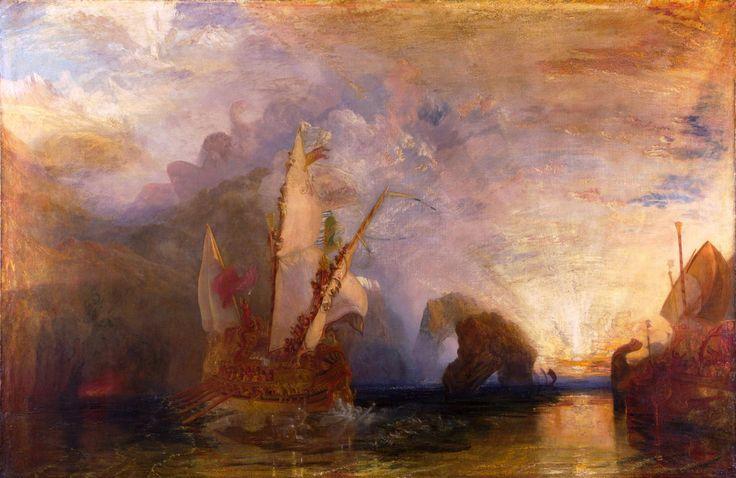 Уильям Тернер «Улисс насмехается над Полифемом». Описание картины. Художники импрессионисты