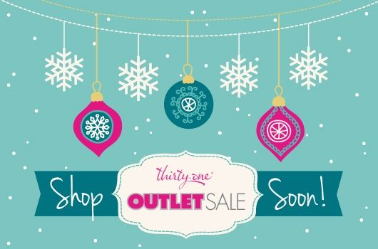 The Thirty-One Outlet Sale is right around the corner! Make sure I have your email so you get your invite to shop :)