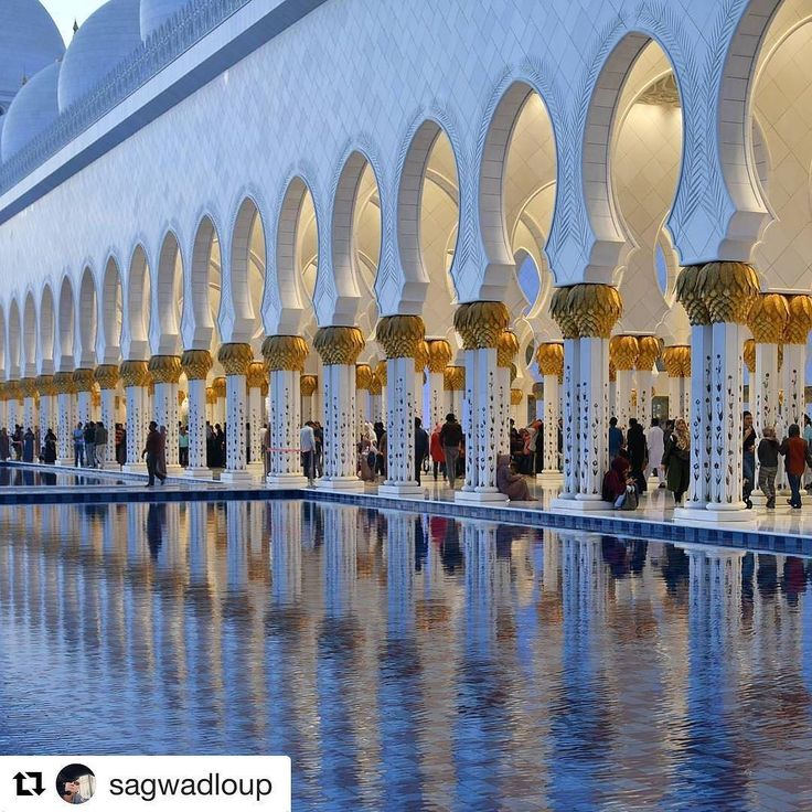 #Repost @sagwadloup  #sheikhzayedmosque sunset time. Heure du coucher de soleil. Lots of people visiting this place.  #nikonpassion365 #abudhabi #uae
