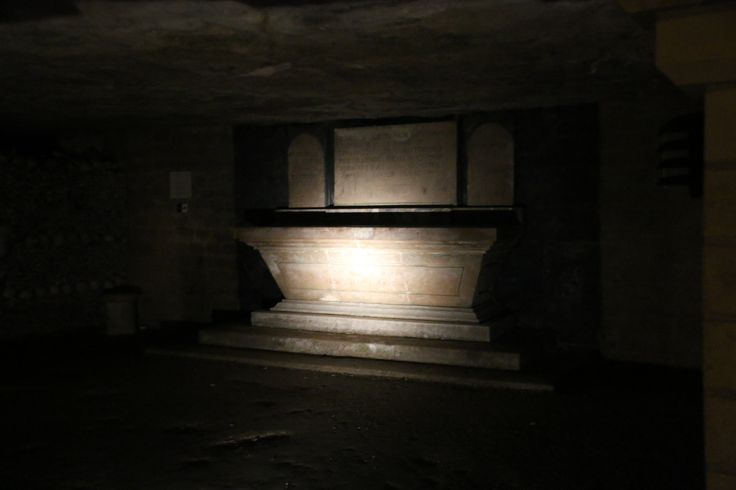 The Paris Catacombs and some of the chambers and corridors.