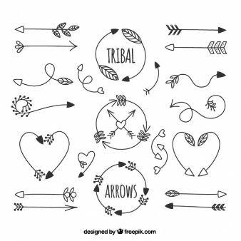 Flechas dibujadas a mano tribales