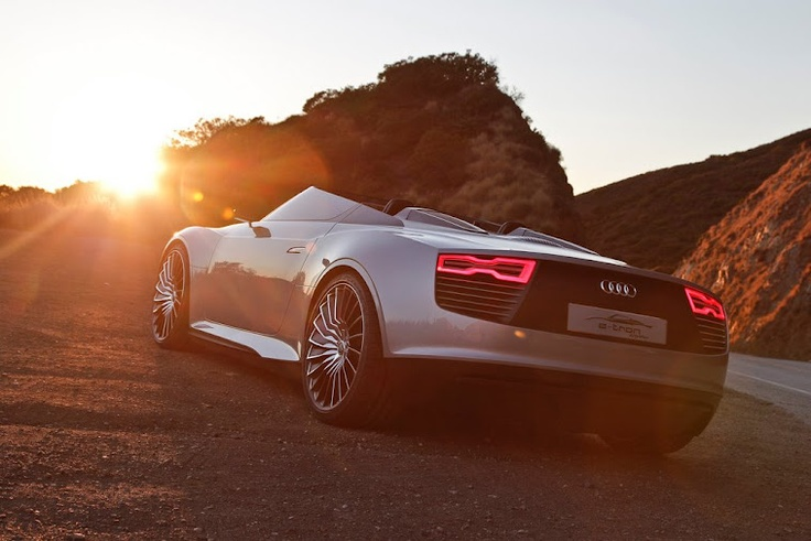 like... wow...*no words*  audi R8 topless: Audi Etron, Sports Cars, E Tron Spyder, Cars Electric, Audi E Tron, Cars Audi, Concept Cars, German Cars, Electric Cars