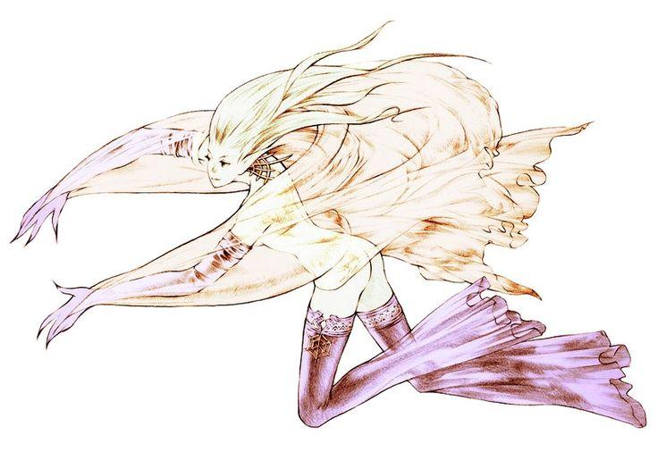 Week 16 - Final Fantasy Tactics - Concept Art Sun - Shiva Summon