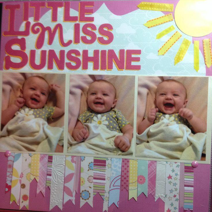 Happy Baby scrapbook page
