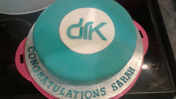 Sarah's congratulations on becoming a director cake! White chocolate mud cake covered in fondant