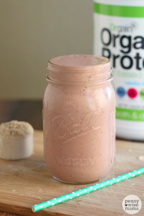 Tropical Breakfast Smoothie with Orgain Organic Protein - vegan, gluten-free, soy-free, dairy-free and non-GMO!