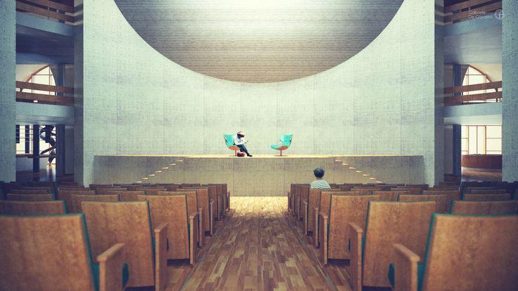 Gabriele De Giovanni - Arsenale's Sea Museum Auditorium in Palermo - Rhino>Cinema4D+vRay>Photoshop