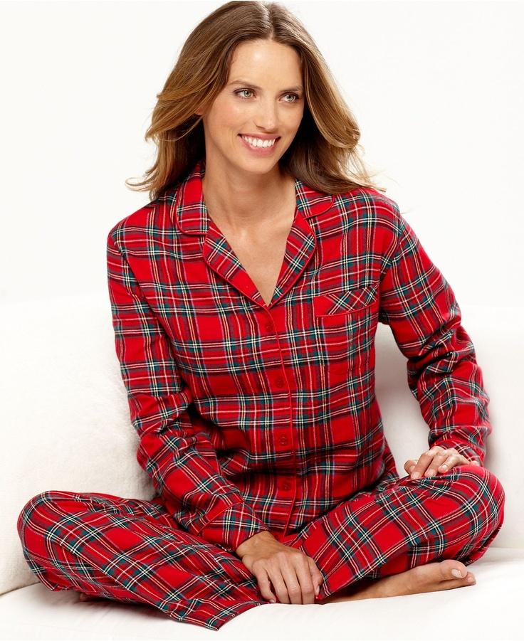 Charter Club Pajamas, Holiday Lane Flannel Top and Pajama