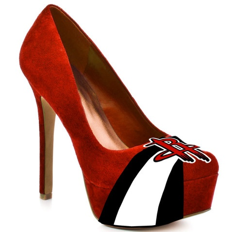 HERSTAR™ Women's High Heel Microsuede Pumps with team logos ~ I saw the SF  Giant's heels on a gal, and loved them even before I knew they had a logo!