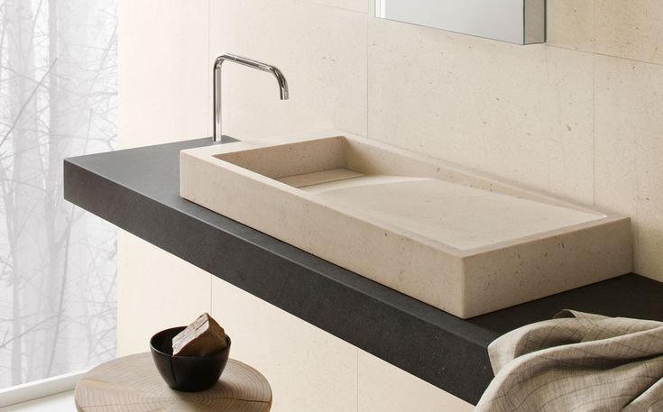 INKSTONE WASHBASIN by Steve Leung: #bathroom, #spa, #stone, #marble, #design, #MadeinItaly, #wellness, #design, #luxury