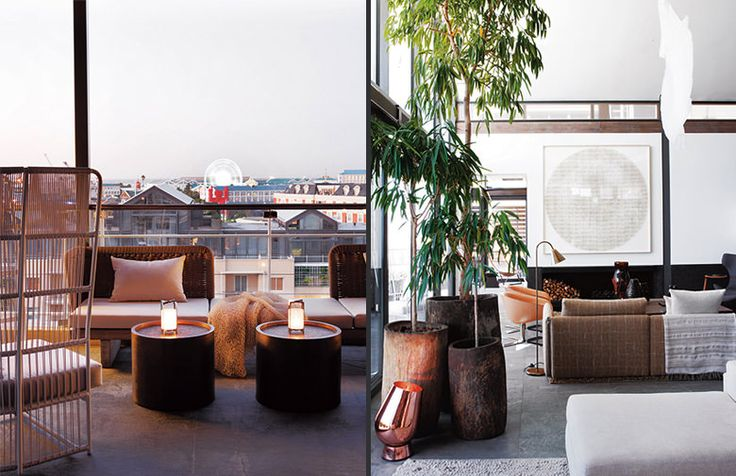 Cécile and Boyd for Waterfront Apartment - love the wood pots