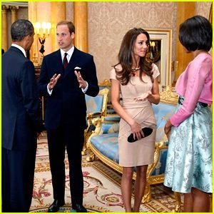 Will & Kate meet the Obamas